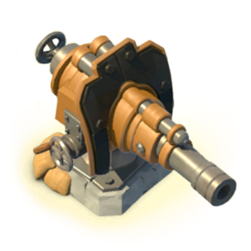 The Boom Cannon fires devastating shots but takes a while to reload. Even the strongest armor is no match for the Boom!