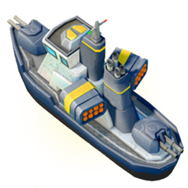 The Gunboat provides fire support and battlefield supplies to your troops. It can also relay movement orders with Flares. Upgrade your Headquarters to acces new Gunboat abilities, and upgrade the Gunboat to increase its Energy capacity.