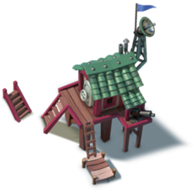 Hero Hut houses your hero units. Hero units are powerful special units that can be used in combat
