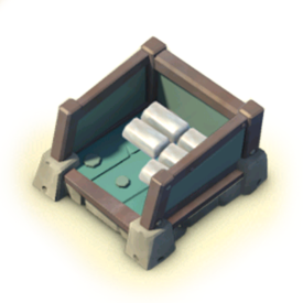 The Iron Storage increases your Iron storage capacity.