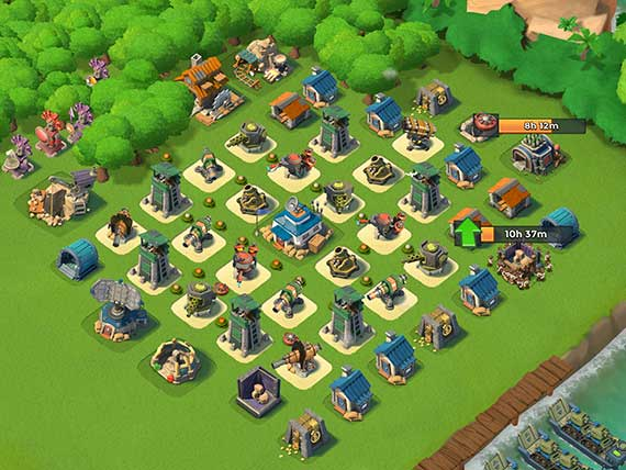 best boom beach defence layout