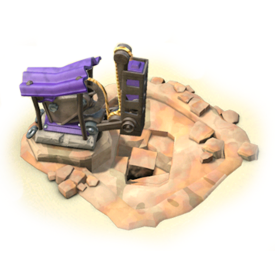 The Quarry produces stone, a medium level construction material. Upgrade the Quarry to increase its production rate!