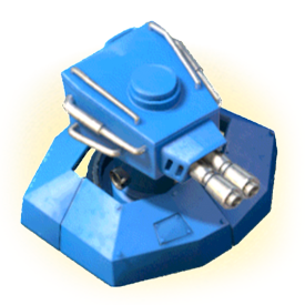 The Shock Blaster shoots shock bullets at a high rate of fire, dealing heavy damage and stunning the target.