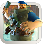The Grenadier is a big and powerful long-range unit that deals area damage—rather inaccurately! Be careful about sending troops in front of him, as they might get caught in a grenade blast.