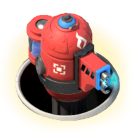 Powerful flamethrower with improved reach. Stays protected in an underground bunker until enemies are in range